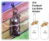 In The Hoop Football Lip Balm Holder Embroidery Machine Design