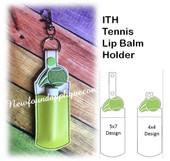 In The Hoop Tennis Lip Balm Holder Embroidery Machine Design