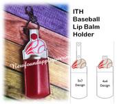 In The Hoop Baseball Lip Balm Holder Embroidery Machine Design