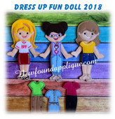 In The Hoop Fun Felt Dress Up Doll 2018  Embroidery Machine Design Starterset