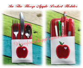 In The Hoop Apple Pocket Holder 5x7 Embroidery Machine Design