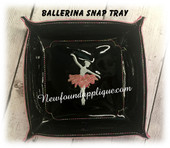 In The Hoop Ballerina Snap Tray Embroidery Machine Design