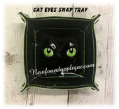 In The Hoop Cat Eyes Snap Tray Embroidery Machine Design