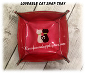 In The Hoop Lovable Cats  Snap Tray Embroidery Machine Design