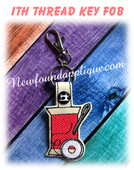 In The Hoop Thread Key Fob Embroidery Machine Design