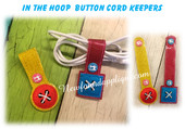 In The hoop Button Cord Keeper Embroidery Machine Design