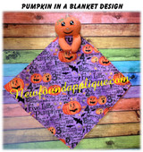 In The Hoop Pumpkin In A Blanket Embroidery/Sewing Machine Design