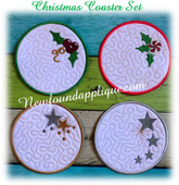 In The Hoop Christmas Coasters Embroidery Machine Design Set 2018