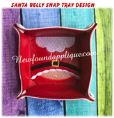 In The Hoo Santa Belly Snap Tray Embroidery Machine Design
