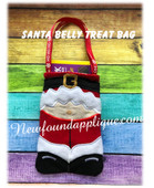In The Hoop Santa Belly Gift Bag EMbroidery Machine Design