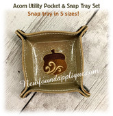 InThe Hoop Acorn Snap Tray Embroidery Machine Design Set
