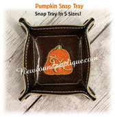 In The Hoop Pumpkin Snap Tray Embroidery Machine Design Set