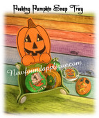 In The Hoop Pumpkin Peeker Snap Tray Embroidery Machine Design
