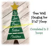 In The Hoop Tree Wall Hanging Embroidery Machine Design
