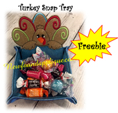 In The Hoop Turkey Peeker Snap Tray Embroidery Machine Design