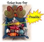 In The Hoop Turkey Peeker Snap Tray Embroidery Machine Design