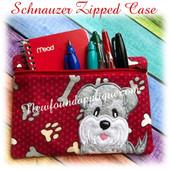In The Hoop Schnauzer Zipped Case Embroidery Machine Design