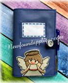 In The Hoop Angel Girl Book Cover 5x7 Embroidery Machine Design