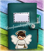 In The Hoop Angel Boy Book Cover 5x7 Embroidery Machine Design