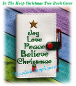 In The Hoop Christmas Tree Book Cover 5x7 Embroidery Machine Design