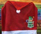 In the hoop Elf Boy Naughty Nice Pocket Embroidery Machine Design