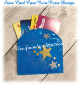 In The Hoop Star Card Coin Purse Case  Embroidery Machine Design