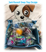 In The Hoop Jack Russell Peeker Snap Tray Embroidery Machine Design