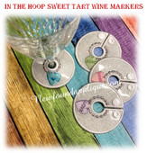 In The Hoop Valentine Sweet Tart Wine Marker Embroidery Machine Design Set