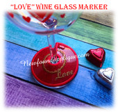 In The Hoop Love Wine Glass Marker EMbroidery Machine Design