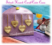 In The Hoop Sweet Heart Card Coin Purse Case Embroiderey Machine Design