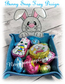 In The Hoop Bunny Peeker Snap Tray Emroidery Machine Design