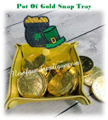 In The Hoop Pot Of Gold St Patricks Day Snap Tray Embroidery Machine Design