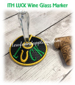 In The Hoop Luck Wine Marker Embroidery Machine Design