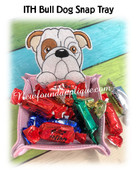 In The Hoop Peeking Bulldog Snap Tray Embroidery Machine Design