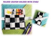 In The Hoop Folded Crayon Holder With Stars Embroidery Machine Design