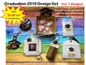 In The Hoop Gradutation 2019 Embroidery Machine Design Set
