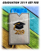 In The Hoop Graduation 2019 Gift Card Holder EMbroidery Machine Design