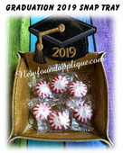 In The Hoop Grad 2019 Snap Tray Embroidery Machine Design Set
