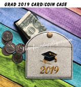 In The Hoop Grad 2019 Coin/Card Case Emboidery Machine Design