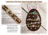 In The Hoop Chocolate Egg Snap on Decoration Embroidery Machine design