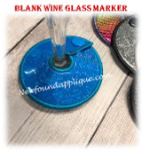 In The Hoop Blank Wine Marker Embroidery Machine Design