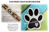 In The Hoop Paw Print Snap On Decoration Embroidery Machine Design