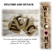 In The Hoop WELCOME Add-On Letters W, E, L, C Embroidery Machine Designs