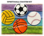 NFA Sports Ball Coaster Embroidery Machine Design Set