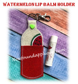 In The Hoop Watermelo Lip Balm Holder Embroidery Machine Design