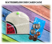 In The Hoop Watermelon Coin Card Case Embroidery Machine Design