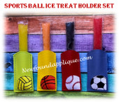 NFA Sports Ball Ice Treat Holder Embroidery Machine Design Set