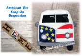 In The Hoop American Van Snap On Decoration Embroidery Machine Design