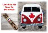 In The Hoop Canadian Van Snap On Decoration Embroidery Machine Design