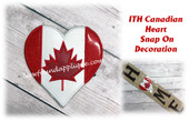 In The Hoop Canadian Heart Snap On Decoration Embroidery Machine Design